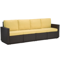 Riviera 4 Seater Sofa with Cushions in Harvest