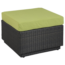 Riviera Ottoman with Cushion in Green Apple