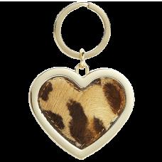 Leopard Heart Keyring